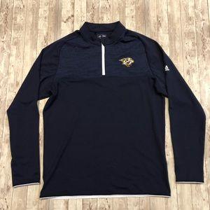 Adidas Nashville Predators quarter zip pullover